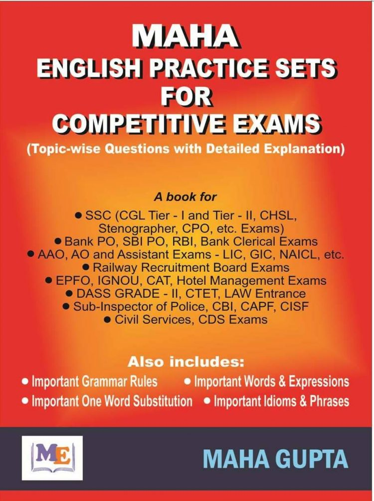 Maha English Practice Sets for Competitive Exams