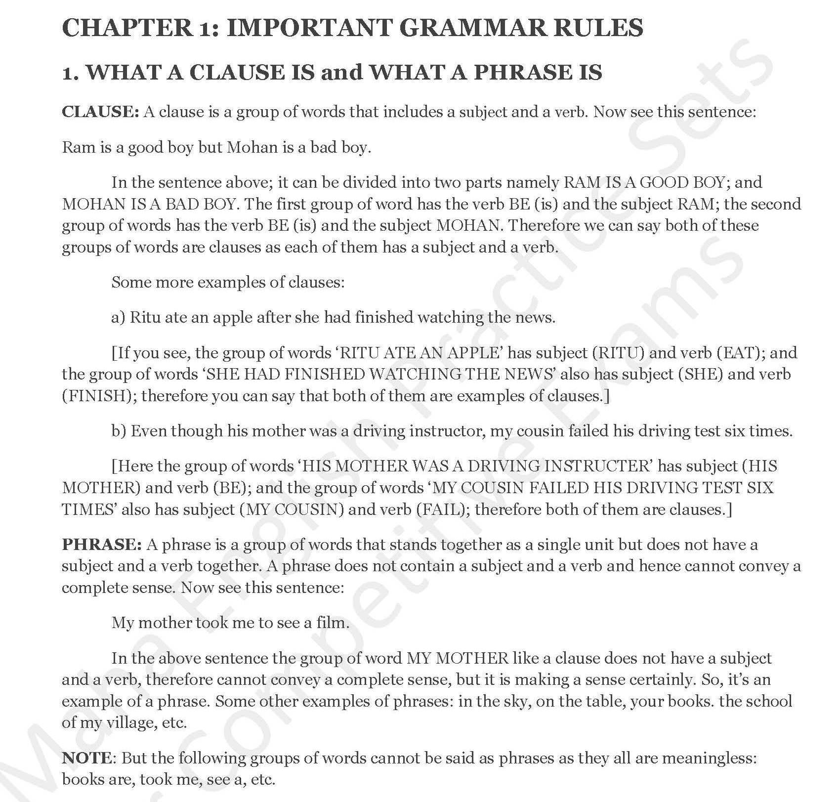 me and my grammar rules