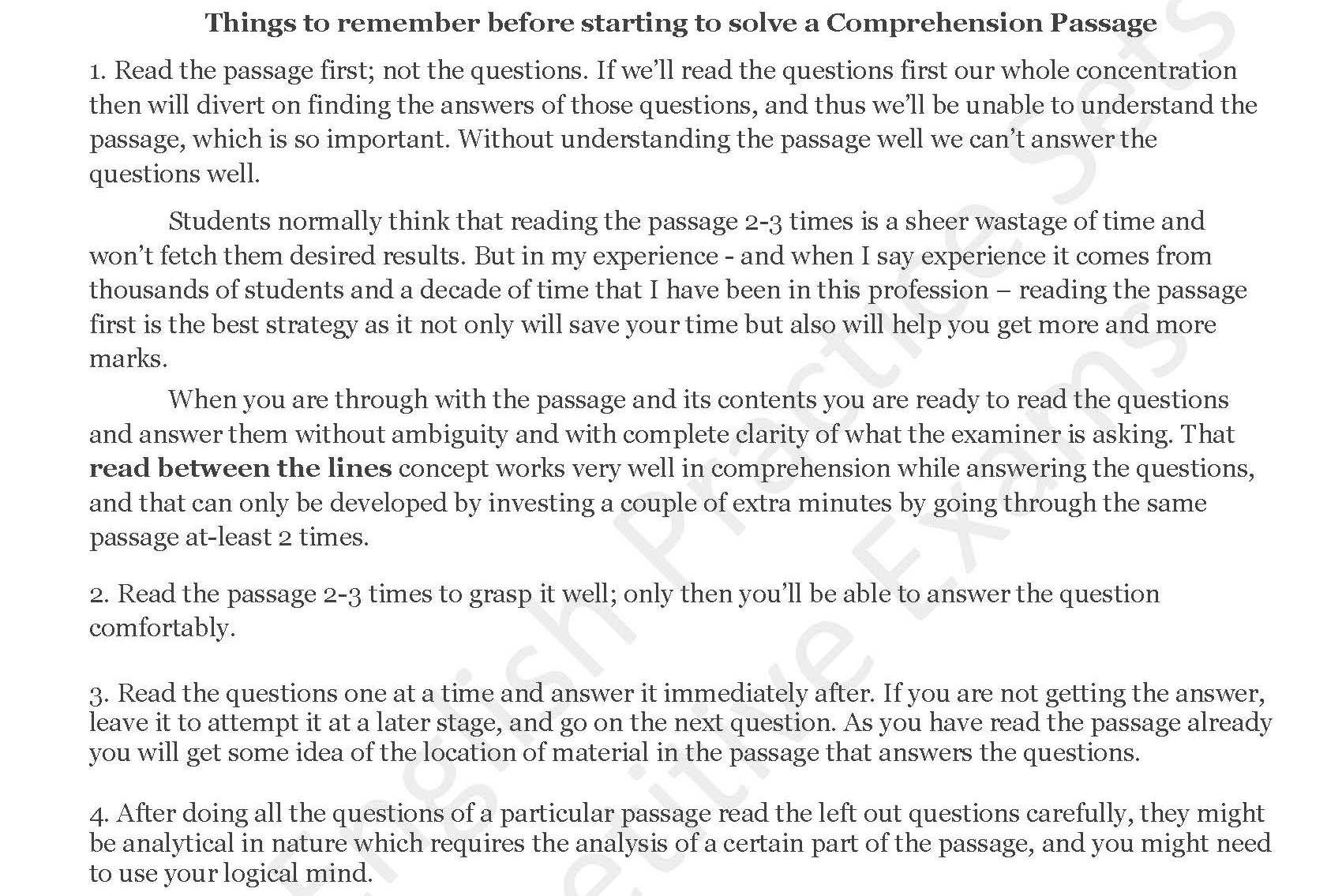 - PRACTICE COMPREHENSION PASSAGES — SOLVED EXAMSCOMP